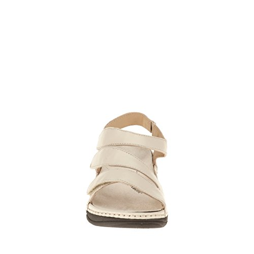 Drew Angela Mujeres Sandal Bone Smooth Leather