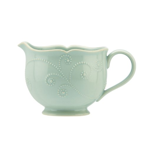 - Lenox French Perle Sauce Pitcher, Ice Blue