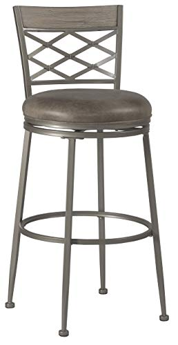 Hillsdale Furniture Hillsdale 4706-826 Hutchinson Swivel, Pewter Counter Stool, Height