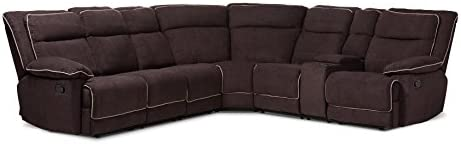 Baxton Studio SaBabette Sectional Sofa