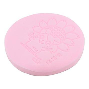 Limpieza de la piel Facial eDealMax Esponja maquillaje rosa del polvo de la herramienta cosmética Wash