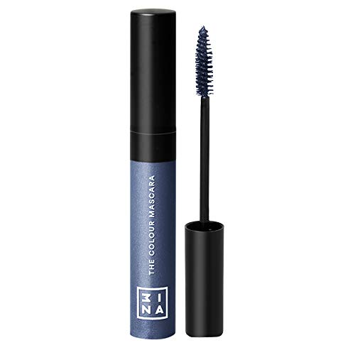 (3INA Makeup Cruelty Free Paraben Free Color Mascara 14 ml - 101 Dark Blue)