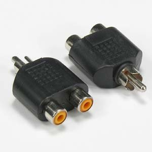 InstallerParts RCA Plug to 2 x RCA Jack Adapter