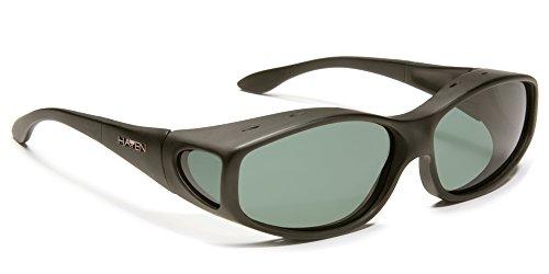 Haven Over-Prescription Sunwear Biscayne Sunglasses,Black Frame/Gray Lens,one - Glasses Haven