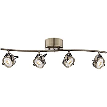 Pro Track Loft Wave Bar Brass 4Light LED Track Fixture   Amazoncom