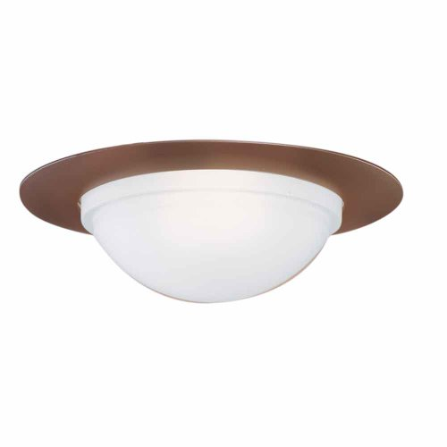 - EATON Lighting 172TBZS 6-Inch Trim Showerlight with Dome Lens and Reflector, Tuscan Bronze Trim with Frosted Glass Dome