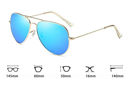 Polarized HD UV400 Neutral Trend Sunglasses Azul Hielo Oro Worclub Trend Retro 1BPfwFFq