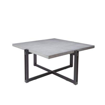 Amazon Com Stone Coffee Table With Metal Base Square Coffee Table
