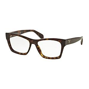 Prada PR22SVF Eyeglass Frames 2AU1O1-54 - Havana