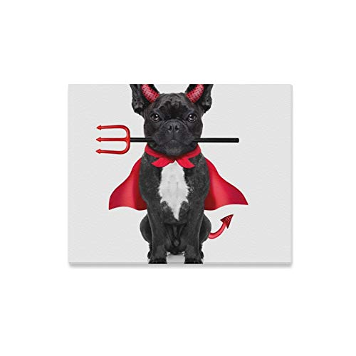 Wall Art Painting Halloween Witch French Bulldog Dog Dressed Prints On Canvas The Picture Landscape Pictures Oil for Home Modern Decoration Print Decor for Living Room]()