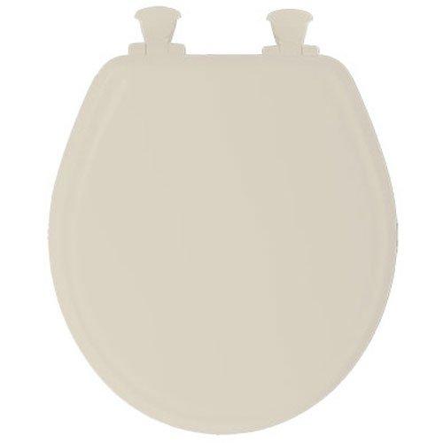 Toilet Seat Deluxe EZ Close No Slam Plastic Round Bone   Renovator's Supply 60%OFF