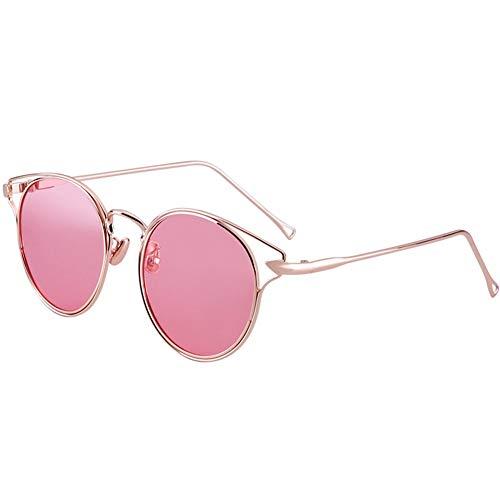 transparentes sol para de Gafas de Pink mujer Gafas NIFG personalidad polarizadas 6xqTCU
