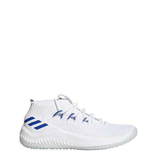 Adidas Dame 4 Scarpe Da Uomo Basket Bianco-blu Solido