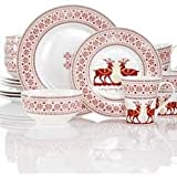 222 Fifth Deerly Loved 16-Piece Dinnerware Set, Service for Four For Sale
