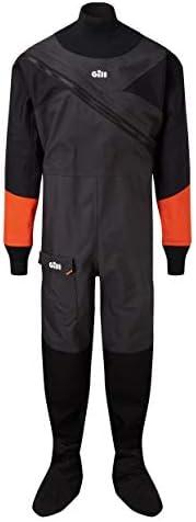 Gill Dinghy Sailing Drysuit Dry Suit Black - Comfortable Internal Braces Waterproof Sprayproof - Unisex