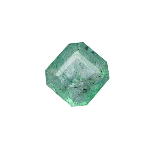 Egl Certified Natural Green Emerald 2.60 Ct Square Cut Gem for Jewelry DX-855 ()