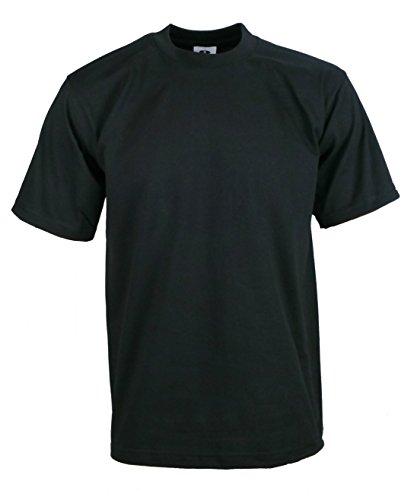 Men's Proclub Heavy Weight Solid Crewneck Short Sleeve Shirts Black 5XL