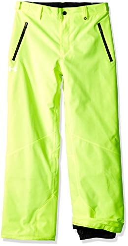 Under Armour Boys' Big Rooter Insulated Pant, hi gh/vis Yellow, Large (14/16)
