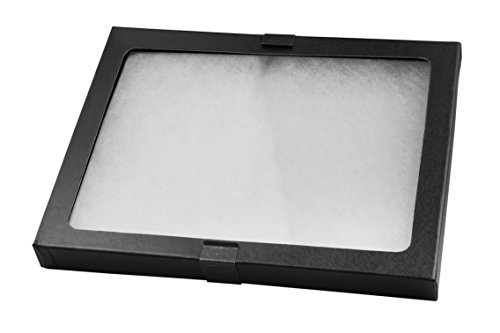 "SE JT926 Glass Top Display Box w/ Metal Clips, 8-5/8"" x 6-5/8"" x 3/4"""