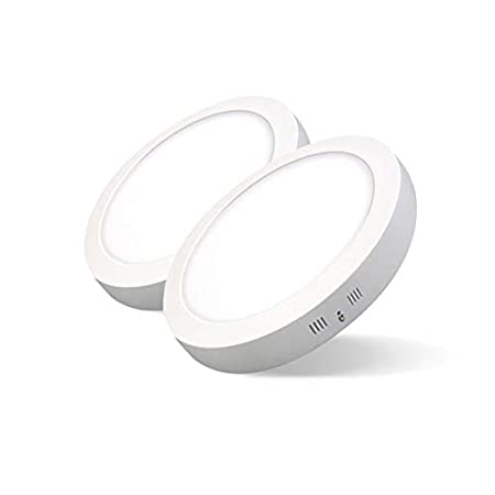 Pack de 2 Plafones LED Circulares ARIES /· Downlight LED Redondo de Superficie de 24W con Chip Interior OSRAM /· 2880 Lm /· 6500K Luz Blanca Fr/ía /· 285mm /Ø Clase Energ/ética A++