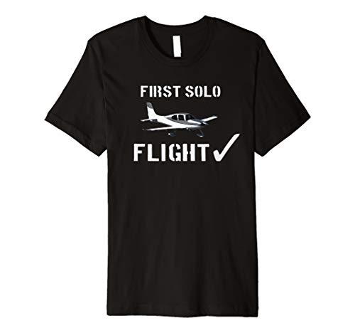 First Solo Flight  T shirt New Pilot Gift Premium ()