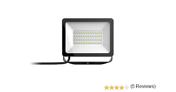 Taloya Magician - Foco LED, acero inoxidable vidrio, Luz blanca natural., 50W: Amazon.es: Iluminación