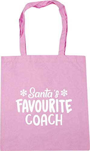 Classic 42cm litres Shopping favourite Hippowarehouse Pink coach Tote x38cm 10 Bag Gym Beach Santa's qwPx4w87