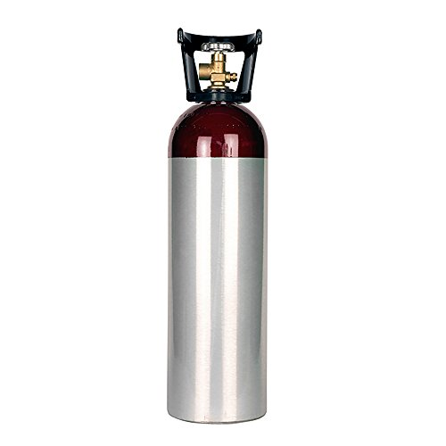 New 60 cu ft Aluminum Helium Cylinder with CGA580 Valve -