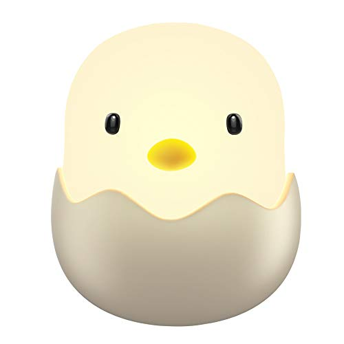 (Updated Version)Tecboss Night Light for Kids, Baby Night Light Touch Control Rechargeable Nursery Lamp Cute Chick Nightlights for Breastfeeding Kids Children Room