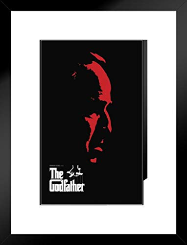 Pyramid America The Godfather Red Face Matted Framed Poster