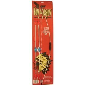 34 Inch Fiberglass Bow, 4 12 Inch Arrows, With Rubber Safety Tips, (Safety Glass Arrows)