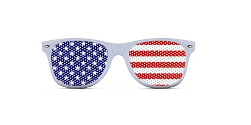 USA Sunglasses - Patriotic Shades - Red White and Blue - - Outrageous Sunglasses