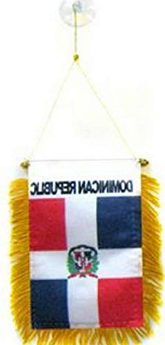 Mikash Dominican Republic Mini Flag 4x6 Window Banner w/Suction Cup | Model FLG - 3235