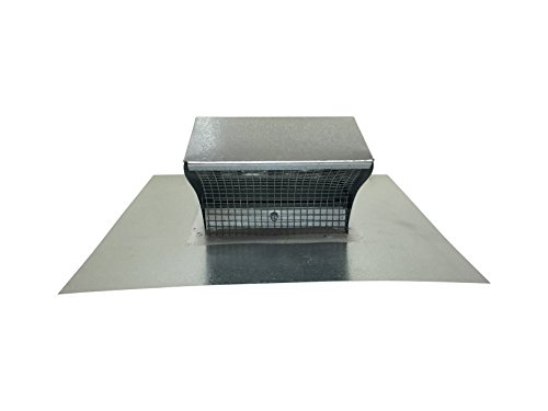 4 Inch Roof Vent Hood Cap Galvanized Damper & Screen - Vent Works by Vent Works (Image #8)