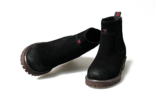 BLACK BLACK NSXZ NSXZ NSXZ tempo testa 36 elastiche libero 35 ceretta 's rotonda Women stivali pelle stivali Martin rrqwpgO8