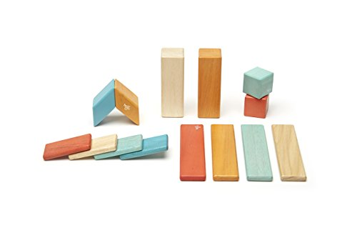 [14 Piece Tegu Magnetic Wooden Block Set, Sunset] (Baby Blossom Costume)