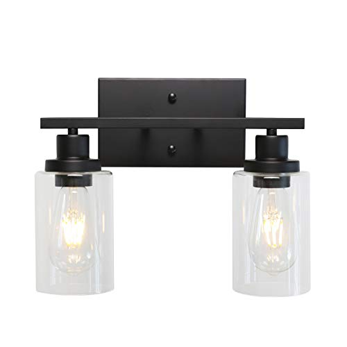 MELUCEE 2-Light Black Wall Sconce Industrial