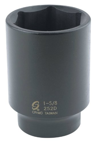 Sunex 252D 1/2-Inch Drive by 1-5/8-Inch Deep Impact Socket by Sunex Tools