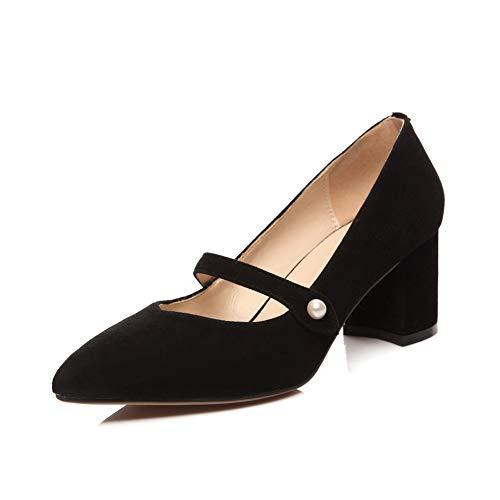 AdeeSu Femme SDC06051 Sandales Noir Compensées 5 Noir 36 ww7TqRPFx