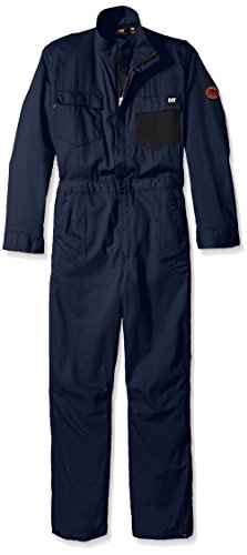 Caterpillar Flame Resistant 6.5 oz Lightweight Twill Coverall, FR Navy, 46/Tall