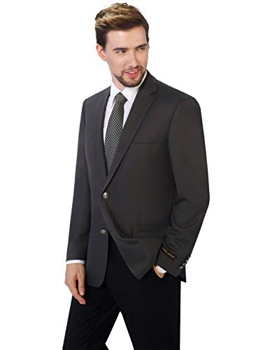 P&L Men's Classic Fit Two-Button Blazer Suit Separate Jacket Grey