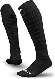 Nxtrnd XTD Scrunch Football Socks, Extra Long Padded Sports Socks for Men &