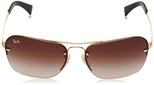 Ray-Ban METAL MAN SUNGLASS - GOLD Frame BROWN GRADIENT Lenses 61mm Non-Polarized