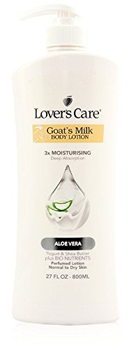(Lover's Care Goat's Milk Body Lotion 3X Moisturising Deep Absorption Aloe Vera 27 fl oz 800)