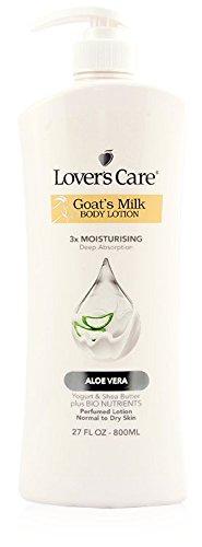 Aloe Body Milk - Lover's Care Goat's Milk Body Lotion 3X Moisturising Deep Absorption Aloe Vera 27 fl oz 800 mL