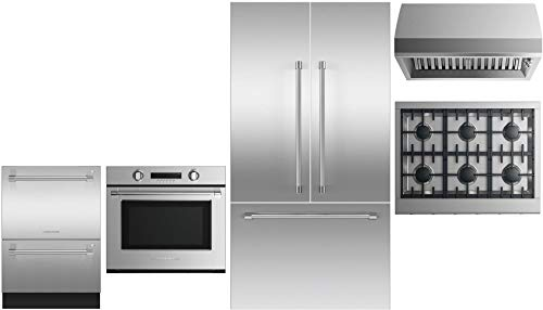 - Fisher Paykel 5 Piece Kitchen Appliance Package with 36