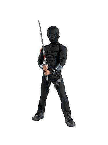 [Snake Eyes Classic Muscle Costume - Small] (Gi Joe Snake Eyes Costume Kids)
