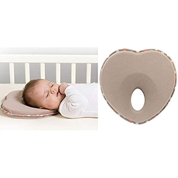 Beher Flat Head Baby Pillow Set Natural Baby Head Shaping Pillow for Newborns /& Infants Prevent Newborn Baby Flathead Syndrome