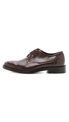 Uri Minkoff Mens Mainz Plain Toe Derby Shoes Oxblood