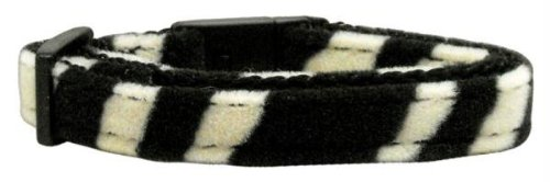 Mirage Pet Products Animal Print Nylon Cat Safety Collars, Zebra